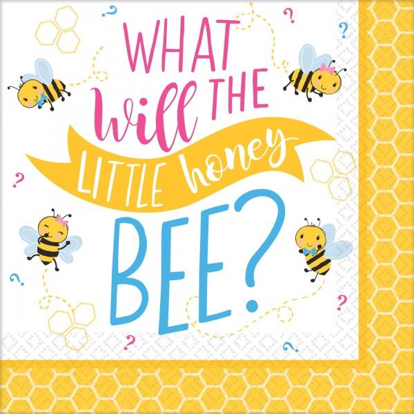 16 Baby Bienen Servietten 25cm