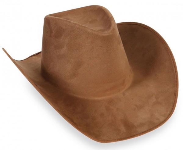 Klassischer Cowboy Hut Wildlederoptik