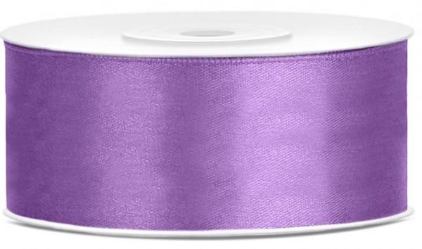 25m Satin Geschenkband Lavendel 25mm breit