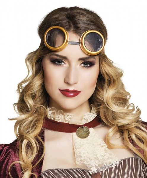 Gafas de aviador steampunk con estilo