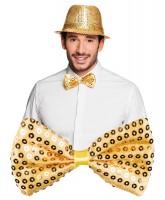 Gold Fliege Mit Pailletten
