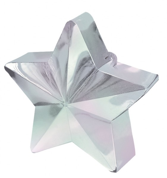Shimmering star balloon weight