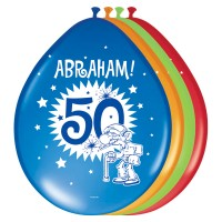 8 Abraham Party Luftballons 30cm