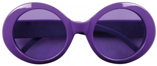 Vintage Neon Brille Violett