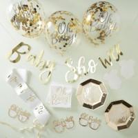 Goldenes Oh Baby Partyset 55-teilig