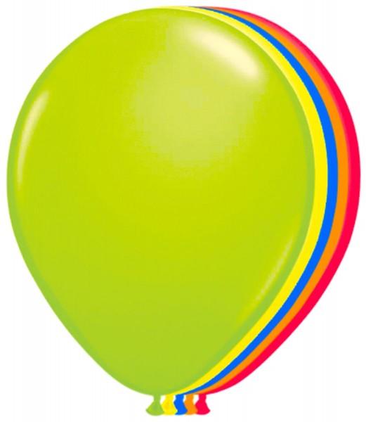 8 Latexballons Neon-Bunt 25cm