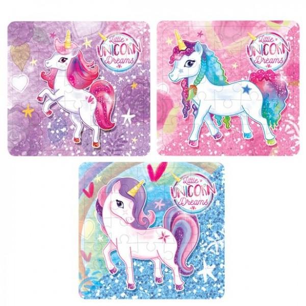 1 puzzle licorne 13 x 12 cm