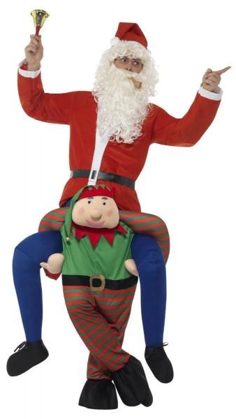 Weihnachtself Bryan Huckepack Kostüm