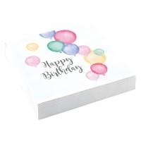 20 Pastell Geburtstag Servietten 33cm