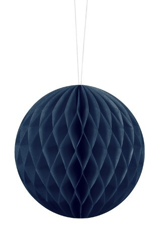 Honeycomb ball Lumina dark blue 10cm