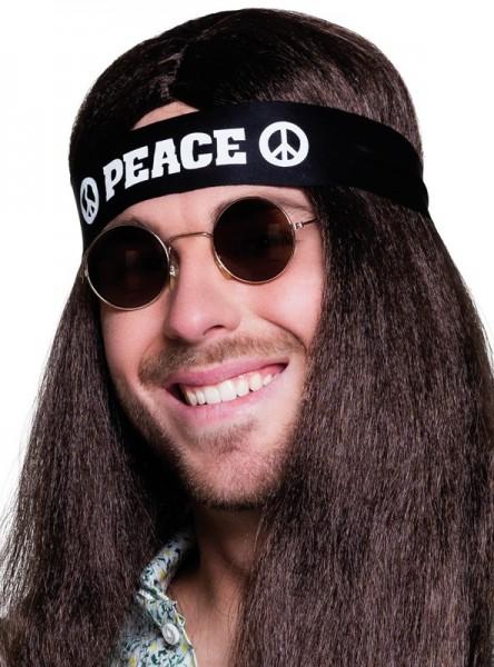 Fascia per capelli Peace nera