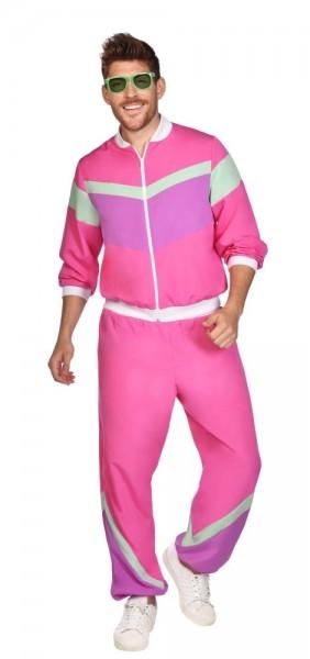 80er Jahre Trainingsanzug Herren in pink