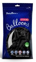 10 Partystar Luftballons schwarz 30cm