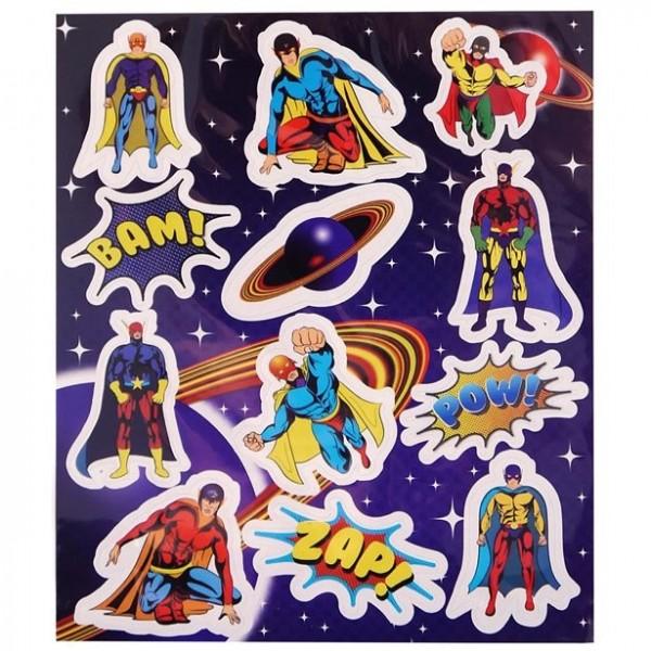1 Bogen Superhelden Aufkleber