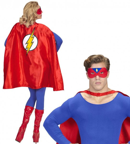 Superhero lightning fast cloak with eye mask