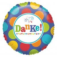 Gepunkteter Folienballon Danke