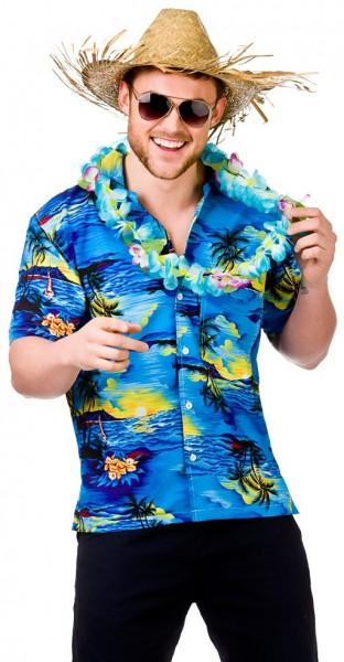 Exotisches Hawaiihemd Blue Lagoon