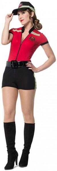 Sexy kostuum van de brandweervrouw Falina