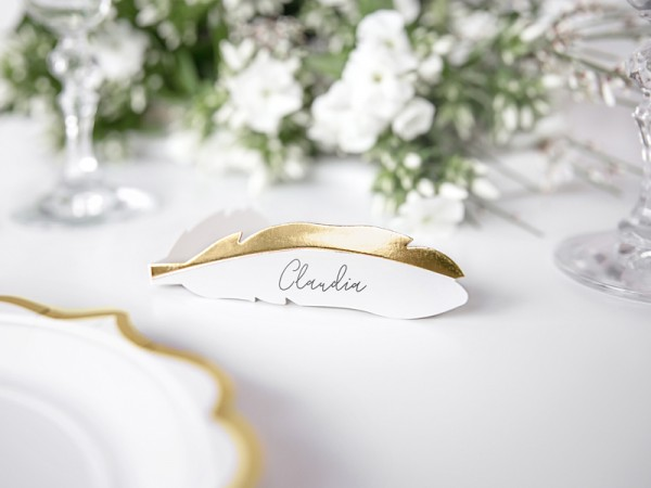 10 Swan Lake place cards 10.5 x 3cm