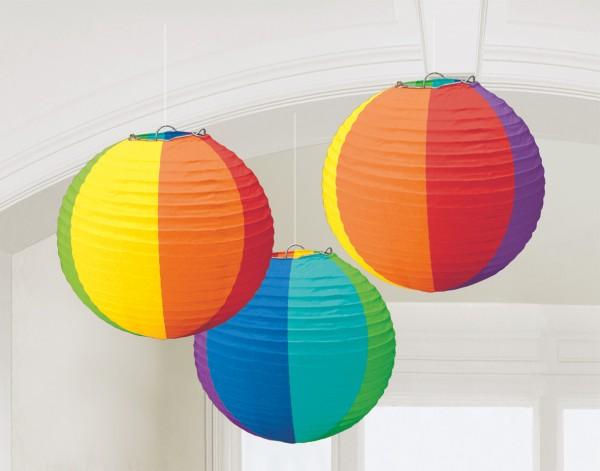 3 Summer Tale lanterns colored 20m