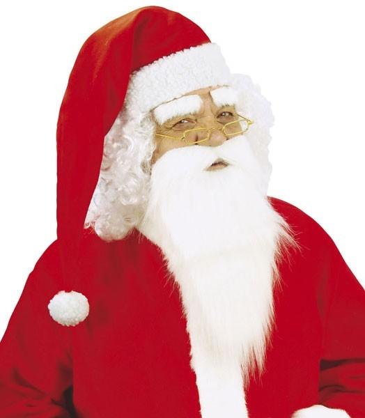 Flauschiger Weihnachtsmann Bart