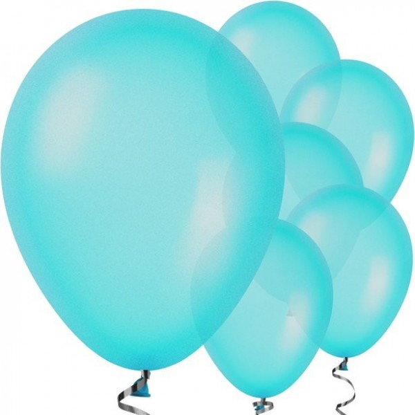 10 turquoise balloons Jive 28cm