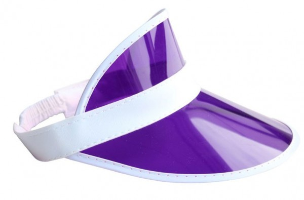 Sporty purple sun visor