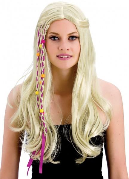 Perruque hippie blonde Heaven