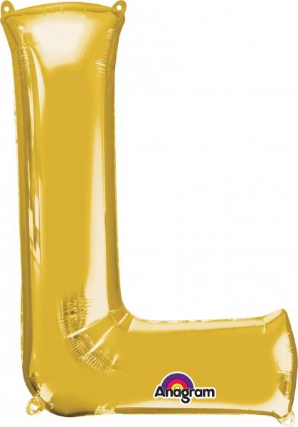 Letter foil balloon gold 81cm