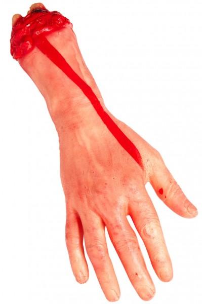 Abgetrennte Hand Blutig Halloween Deko Körperteil