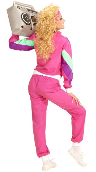 80's Retro Jogging Costume Pink