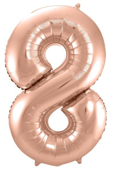 Foil balloon numero 8 in oro rosa 86 cm