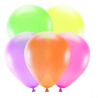 5 Neon Latexballons Partyfun 25cm