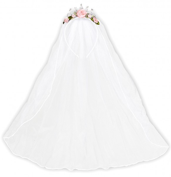 Brautschleier Mit Blumenkranz