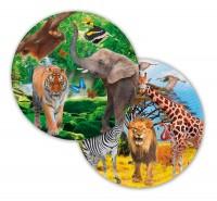 Safari & Dschungel Teller 8 Stk