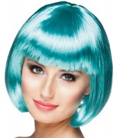 Perruque Shiny Party Bob Turquoise