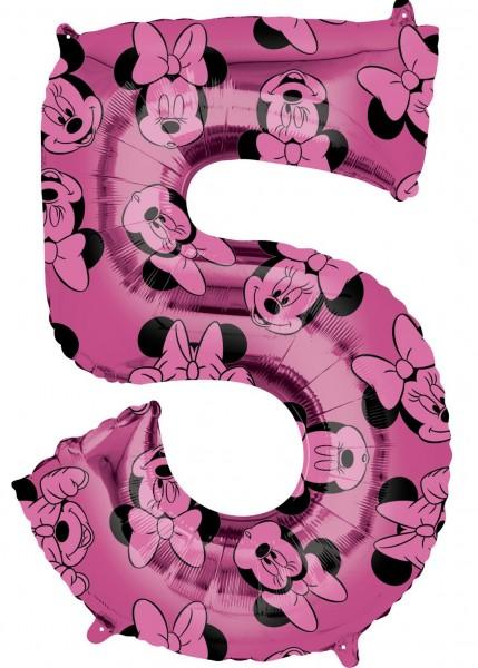 Minnie Mouse Zahl 5 Ballon 66cm
