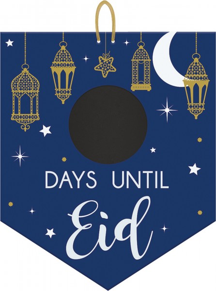 Eid countdown chalkboard hanging sign