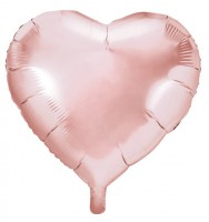 Herzilein Folienballon roségold 45cm