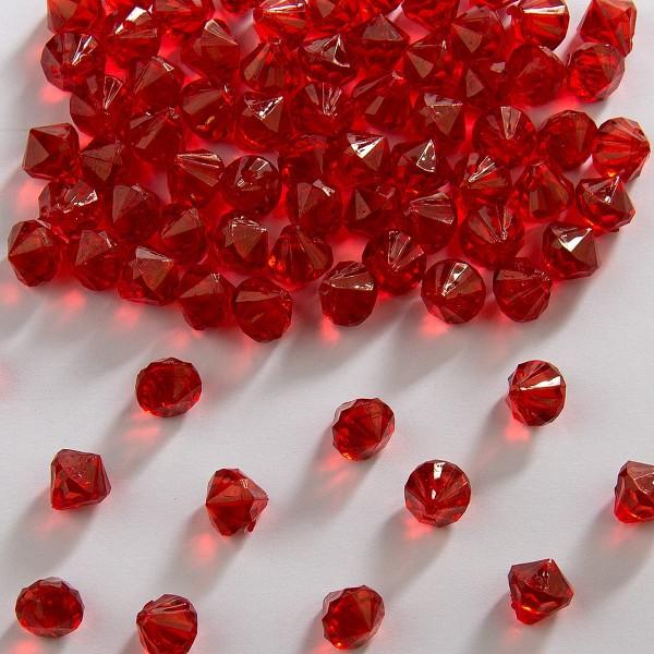 Diamants décoratifs en rouge 9 mm
