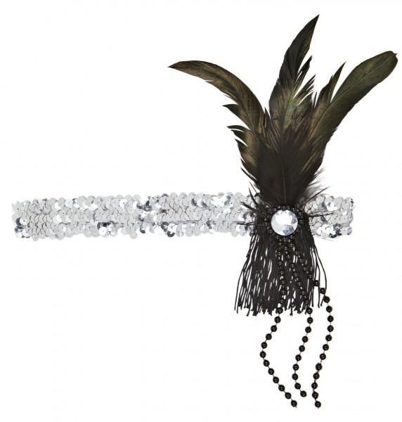 Silbernes Charleston Stirnband