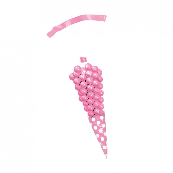 10 candy buffet cones pink