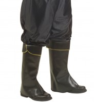 Couvre-bottes de pirate noirs