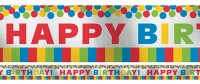 Happy Birthday Regenbogen Banner 7,6m