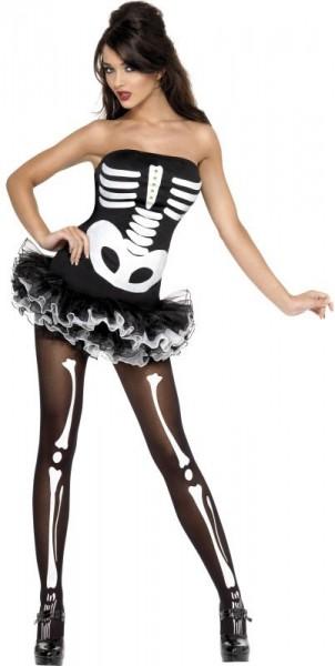 Halloween Kostüm Skelett Lady Verführerisch 1