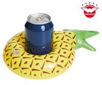 Aufblasbarer Getränkehalter Ananas 19x19x6cm