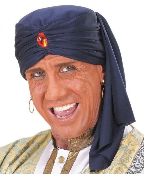 Orientalischer Turban mit Schmuckstein