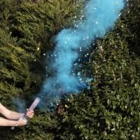 Baby Boom Rauchkanone blau 30cm