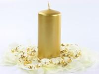 6 Stumpenkerzen Rio gold metallic 12cm