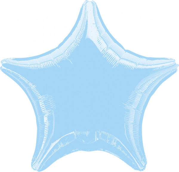 Sparkling Star balloon baby blue